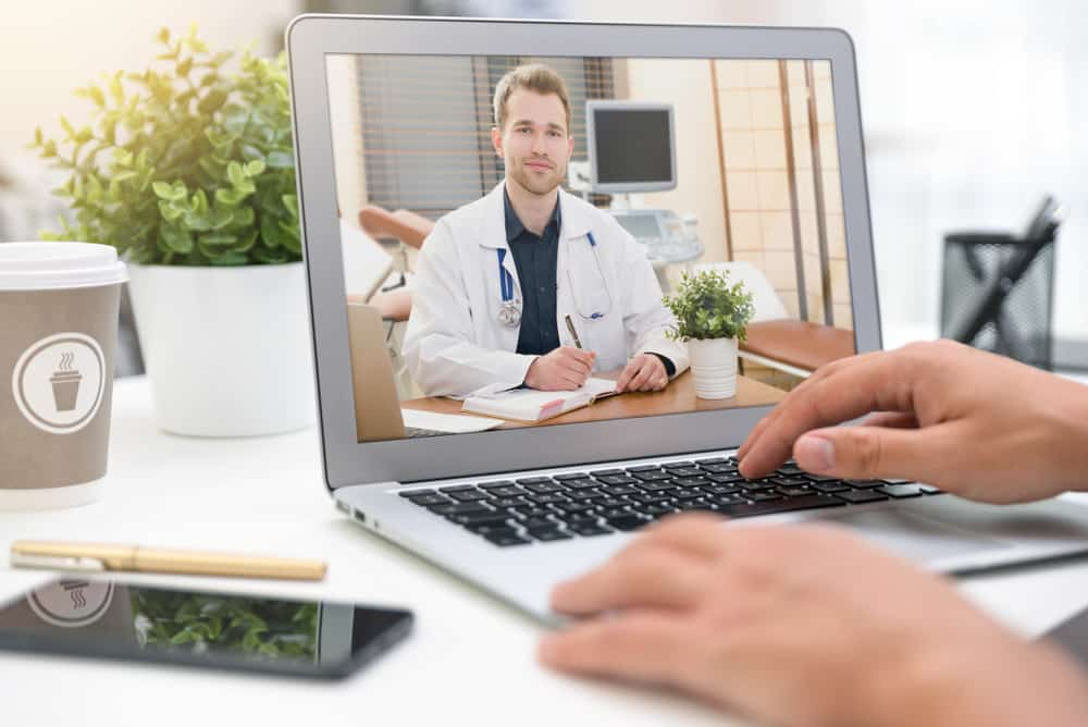 Doctor,With,A,Stethoscope,On,The,Computer,Laptop,Screen.,Telemedicine