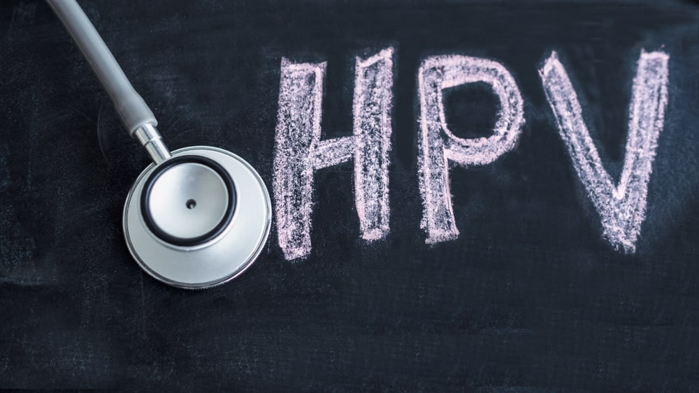 """Stethoscope,With,Blackboard,Have,Text,"""",Hpv"""",In,It.,Concept"""