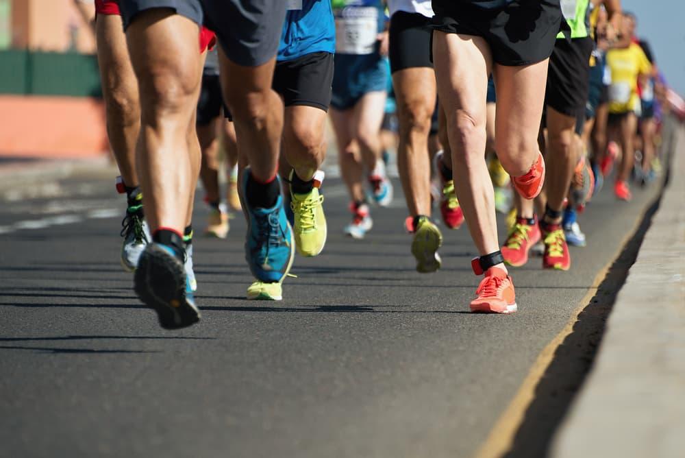 Marathon,Running,In,The,Light,Of,Evening,running,On,City,Road