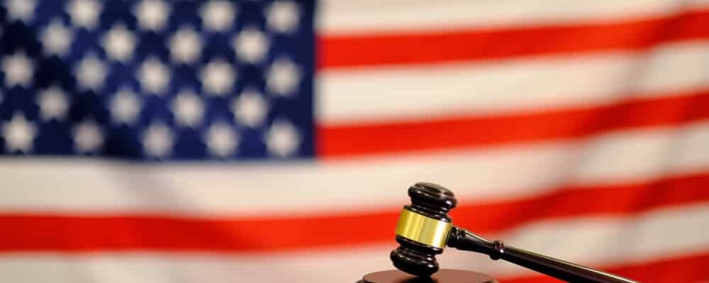 Judge's,Gavel,And,Over,Usa,Flag.,Symbol,For,Jurisdiction.,Law