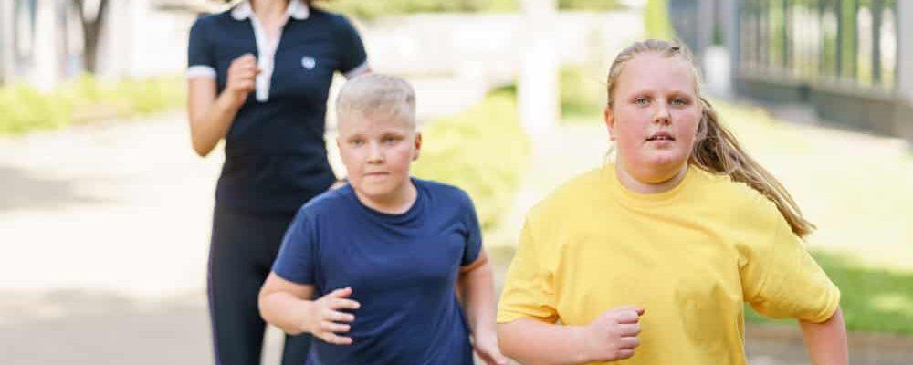Kids jogging