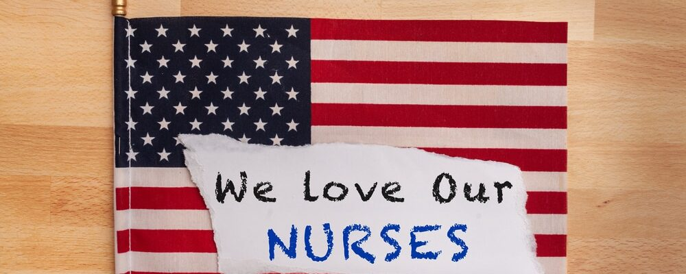 Nurse,Appreciation,Sign,We,Love,Our,Nurses,Written,On,A